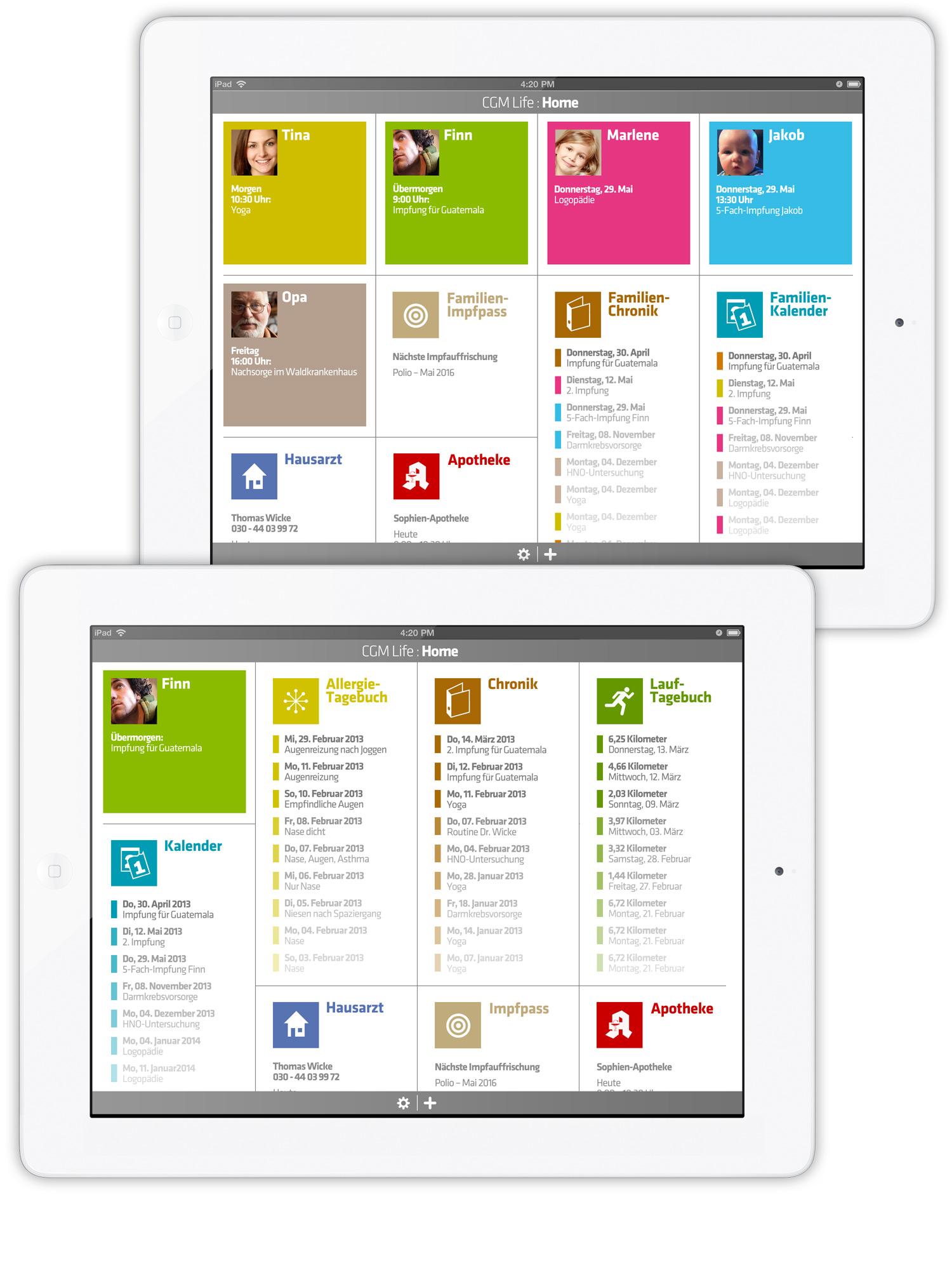 App Di Design app design cgm patient app · marcus lepie · art director in